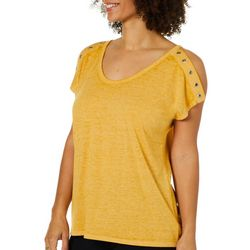 Harlow and Rose Womens Split Sleeve Grommet Top