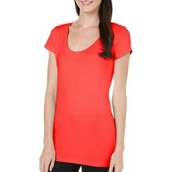 Allison Brittney Womens Basic Solid T-Shirt