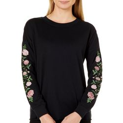 Harlow and Rose Womens Embroidered Rose Top