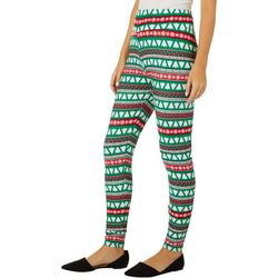 Allison Brittney Womens Mixed Christmas Tree Print Leggings