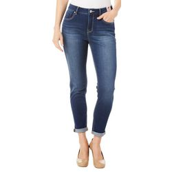 Curve Appeal Womens Denim Roll Cuff Ankle Jeans