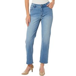 Curve Appeal Womens Tummy Tucking Straight Leg Jeans