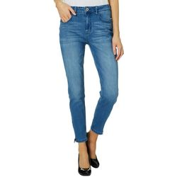 C&C California Womens High Rise Zip Hem Skinny Jeans