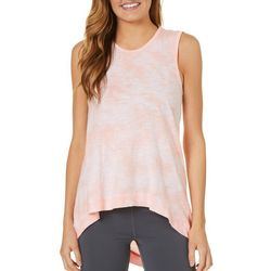 C&C California Womens Tie Dye High-Low Top