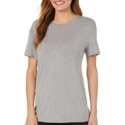 C&C California Womens Solid Eyelet Panel Top