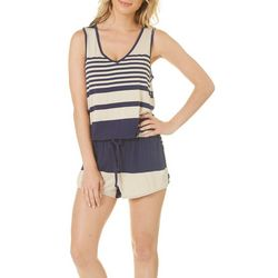 C&C California Womens Striped Knit Romper