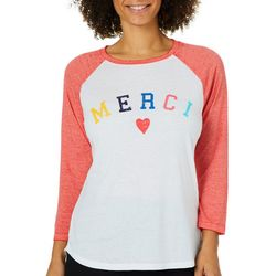 C&C California Womens Merci Burnout Raglan Top