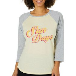 C&C California Womens Sun Days Burnout Raglan Top