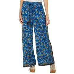 Sky & Sand Womens Boho Floral Wide Leg Soft Pants