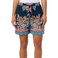 Sky & Sand Womens Floral Printed Tie Waist Soft Shorts