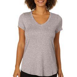 Femme Womens Heathered V-Neck T-Shirt