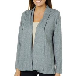 Femme Womens Heathered Open Front Cardigan