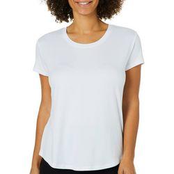 Femme Womens Solid Round Neck T-Shirt
