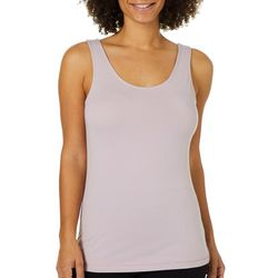 Femme Womens Solid Knit Tank Top