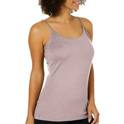 Femme Womens Solid Knit Cami