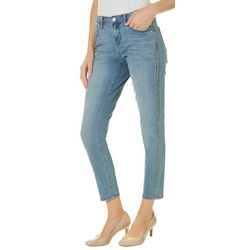 Earl Jean Womens Studded Straight Fit Jeans