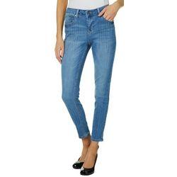 Earl Jean Womens Embellished Denim Skinny Jeans