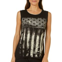 Vanilla Sugar Womens Dark American Flag Top