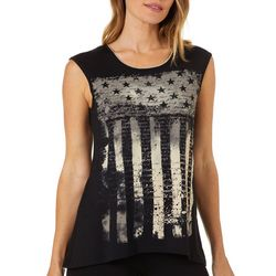 VS Collection Womens Liberty Star And Stripe Cap Sleeve Top