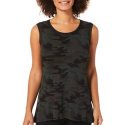 Vanilla Sugar Womens Camo Print High-Low Tank Top