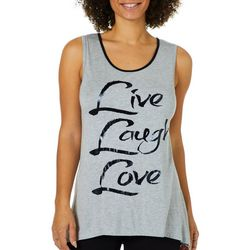 Vanilla Sugar Womens Live Laugh Love Hi-Lo Hem Tank Top