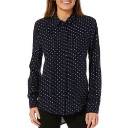 Per Se Womens Anchor Print High-Low Top