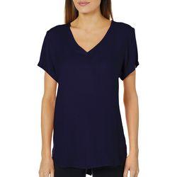 Alexander Jordan Womens Solid High-Low T-Shirt