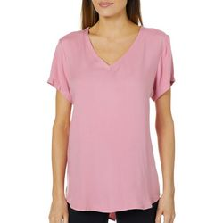 Alexander Jordan Womens Solid High-Low T-Shirt