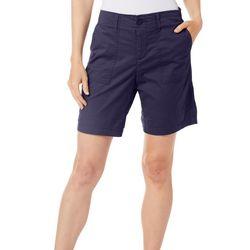 Per Se Womens Pork Chop Pocket Shorts