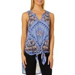 Figueroa and Flower Womens Floral Lace Sleeveless Top