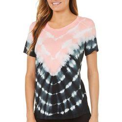 Ava James Womens Tie Dye T-Shirt