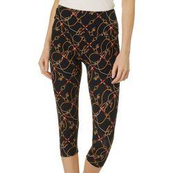 Khakis & Co Women Chain Print Capri Leggings