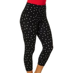Khakis & Co Womens Polka Dot Printed Capri Legging