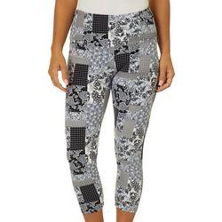 Khakis & Co Womens Mixed Paisley Print Capri Leggings
