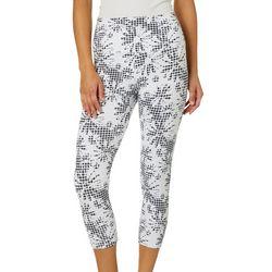 Khakis & Co Womens Suave Gingham Floral Capri Leggings