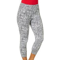 Khakis & Co Womens Hatch Scratch Printed Capri Leg