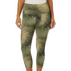 Khakis & Co Womens Tropical Palm Print Capri Leggings