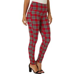 Khakis & Co Womens Plaid Capri Leggings