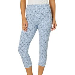 Khakis & Co Womens Tile Print Capri Leggings