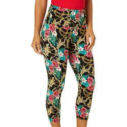 Khakis & Co Womens Hibiscus Chain Link Print Capri