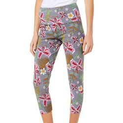 Khakis & Co Womens Floral Garden Capri Leggings