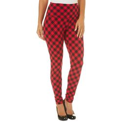 Khakis & Co Womens Suave Gingham Leggings