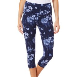Khakis & Co Womens Hibiscus Print Capri Leggings