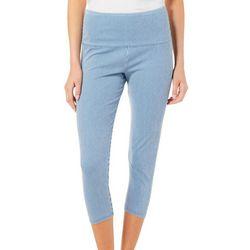 Khakis & Co Womens Striped Capri Leggings