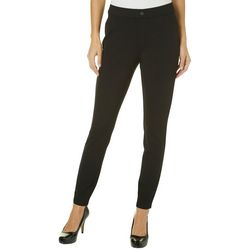 Khakis & Co Womens Solid Double Knit Jegging Pants