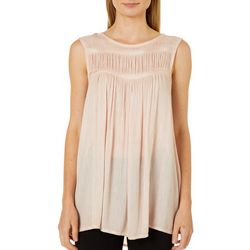 Flint & Moss Womens Textured High Neck Sleeveless Top