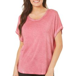CG Sport Womens Solid Short Sleeve Dolman Top