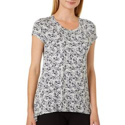 Cupio Womens All Over Bicycle Print Top