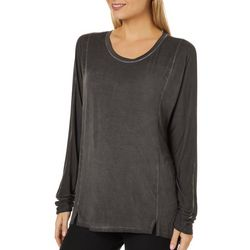 Cable & Gauge Womens Mineral Wash Long Sleeve Top