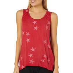 Cable & Gauge Womens Mineral Wash Star Tank Top